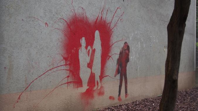 Street art in a park