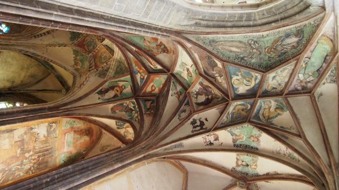 Painted ceilings inside St Barbara