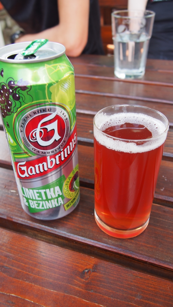 Lime and Berry Beer - the closest thing to cider outside of Prague