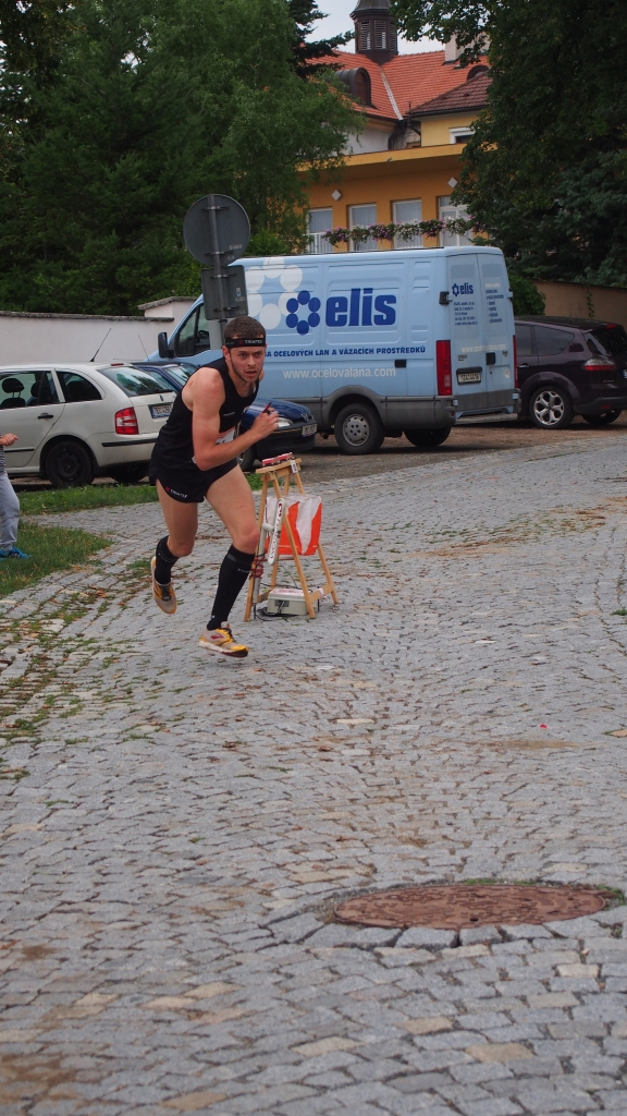 Jourdan finishing the sprint